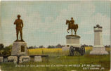 STATUES OF GEN. BUFORD AND GEN. REYNOLDS AND HALL'S 2ND ME. BATTERY. GETTYSBURG, PA.